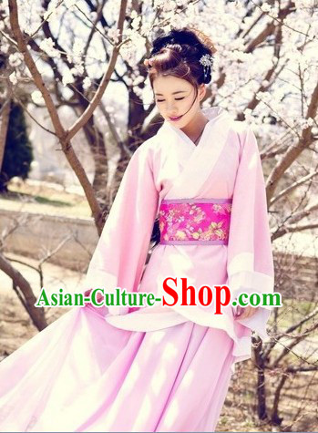 Ancient Chinese Pink Koto Imperial Concubine Performance Outfit