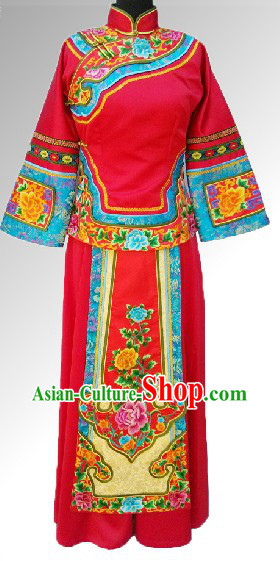 Traditional Chinese Wedding Blouse and Skirt Complete Set for Brides