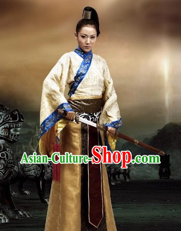 Traditional Ancient Chinese Knight Swordsman Costume for Men or Women