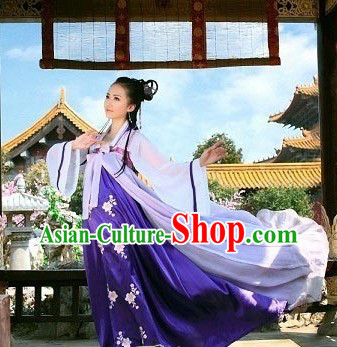 Purple Traditional Ancient Chinese Ruqun Robe Suit