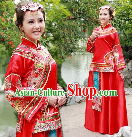 Traditional Ancient Chinese Wedding Dress Outfit for Women
