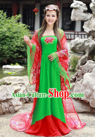 Traditional Ancient Chinese Tang Dynasty Suit for Women