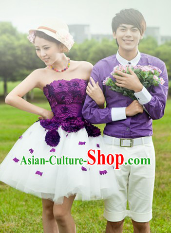 Wedding Photography Use Bride and Bridegroom Loves Theme Outfits