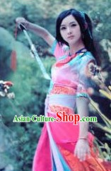 Ancient Chinese Fairy Swordswoman Knight Costume
