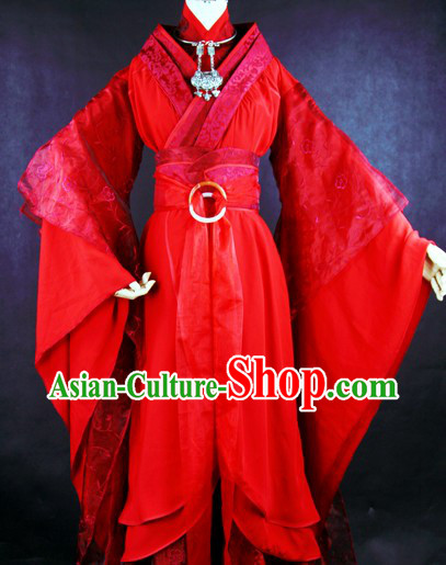 Ancient Chinese Mu Rongan Wedding Dresses Clothing Complete Set for Brides
