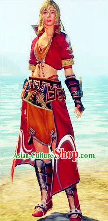 Red Sasa Lolita Cosplay Costumes for Women