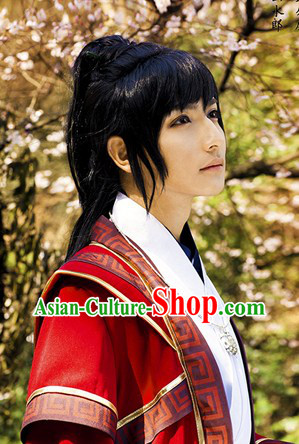 Ancient Chinese Knight Warrior Wig for Men