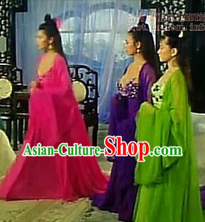Ancient Chinese Alluring Woman Costume (10 Colours are Available)