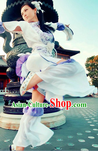 Pure White Ancient Chinese Clothing Lolita Cosplay for Women
