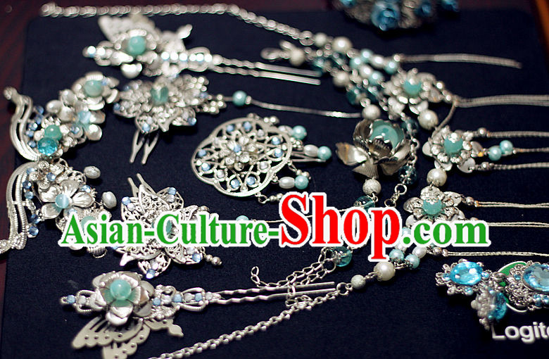 Ancient Chinese Style Hair Accessories, Earrings and Necklace Set