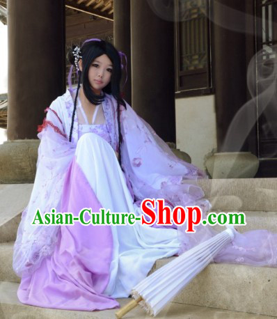 Purple Ancient Chinese Tang Dynasty Cosplay Princess Costume and Headpieces