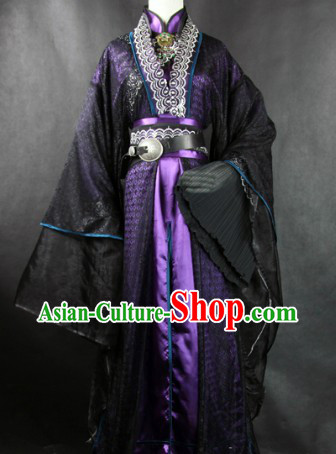 Traditional Ancient Chinese School Master Costume Complete Set