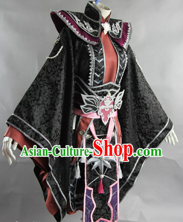 Traditional Ancient Chinese Kung Fu Teacher Costume Complete Set
