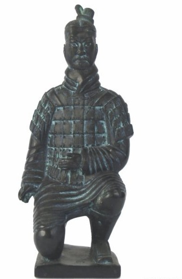 Chinese Terra Cotta Kneeling Archer
