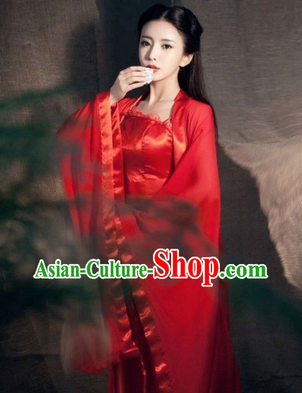 Dragon Lady Xiao Long Nv Red Costume for Women