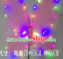 LED Lights Stage Performance Adult Size Butterfly Dance Wings