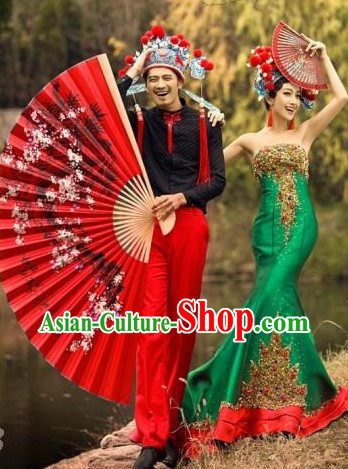 Chinese Classical Wedding Hats for Men and Women