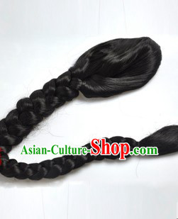 Qing Dynasty Style Long Ponytail Wig for Men