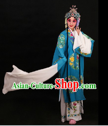 Traditional Chinese Opera Round Flower Embroidery Outfit