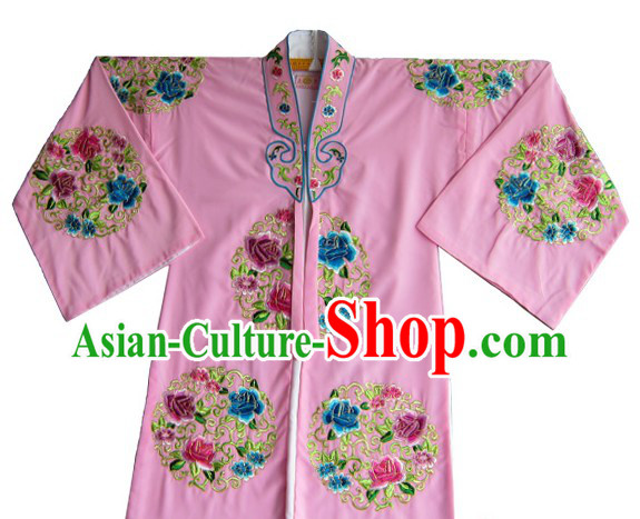 Traditional Chinese Opera Round Flower Embroidery Suit