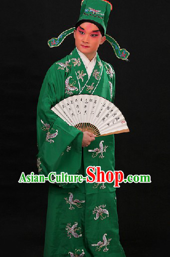Shui Hu Xi Menqing Playboy Butterfly Embroidered Costumes and Hat for Men
