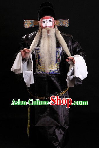 Black Chinese Ancient Official Costumes and Hat for Men