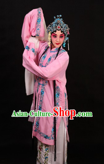 Pink Chinese Peking Opera Qingyi Dan Costume for Women