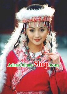 The Return of The Pearl Princess Han Xiang Xiang Fei Costumes and Hat Complete Set