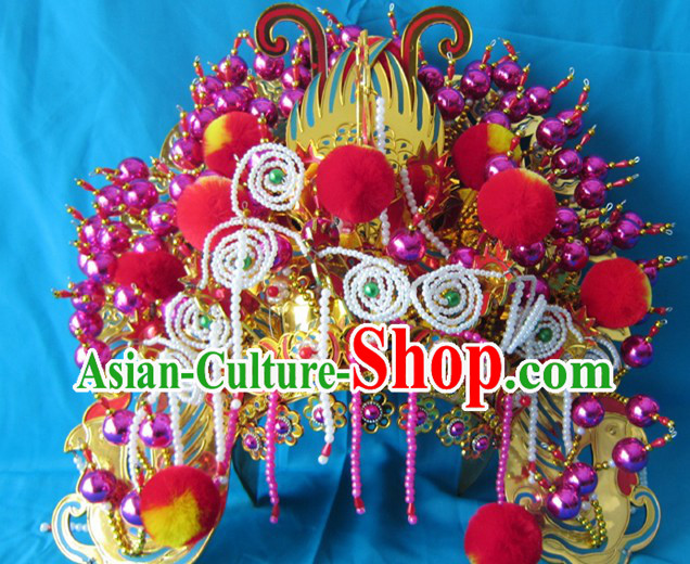 Traditional Chinese Opera Da Feng Guan Big Phoenix Coronet Crown