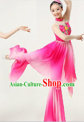 Mandarin Fan Dance Costume and Headpiece for Women
