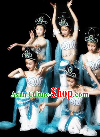Feitian Flying Apsaras Dance Costumes and Hair Accessories for Women