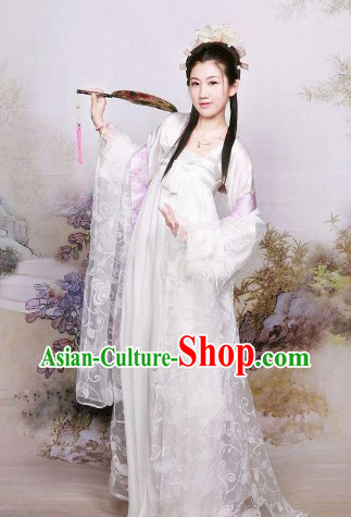 Traditional Chinese Snowflower Tang Dynasty Princess Clothes for Women