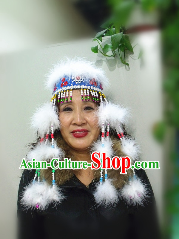 Traditional Chinese Mongolian Hat for Women