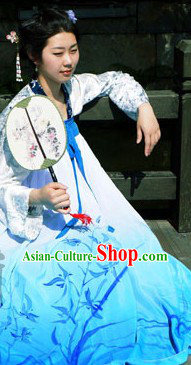 Traditional Ancient Chinese Tang Dynsty Ru Qun Clothing for Women