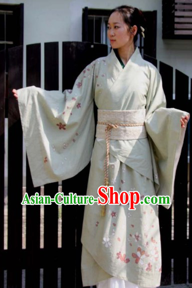 Ancient Chinese Oriental Cherry Blossom Quju Clothing for Women