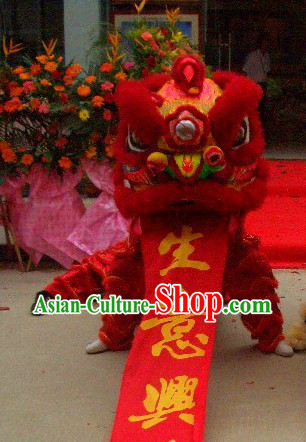 Professional Competition and Performance Lion Dance Costumes Complete Set