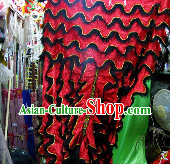 Long Wool Lion Dance Body Costumes Pants Claws Set