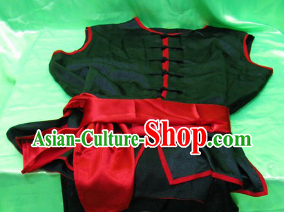 Black Chinese Kung Fu Uniform Lion Dancer Dragon Dancer Outfit