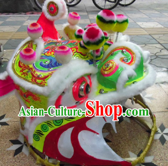 Chinese Folk Classic Mountain Lion Dance Costumes Complete Set for Adults