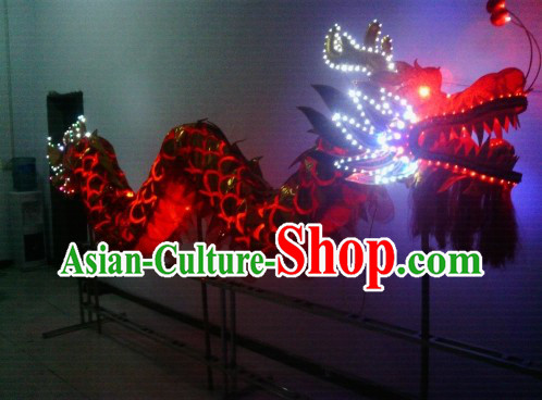 LED Lights Dragon Dance Costumes Complete Set for 4 Children