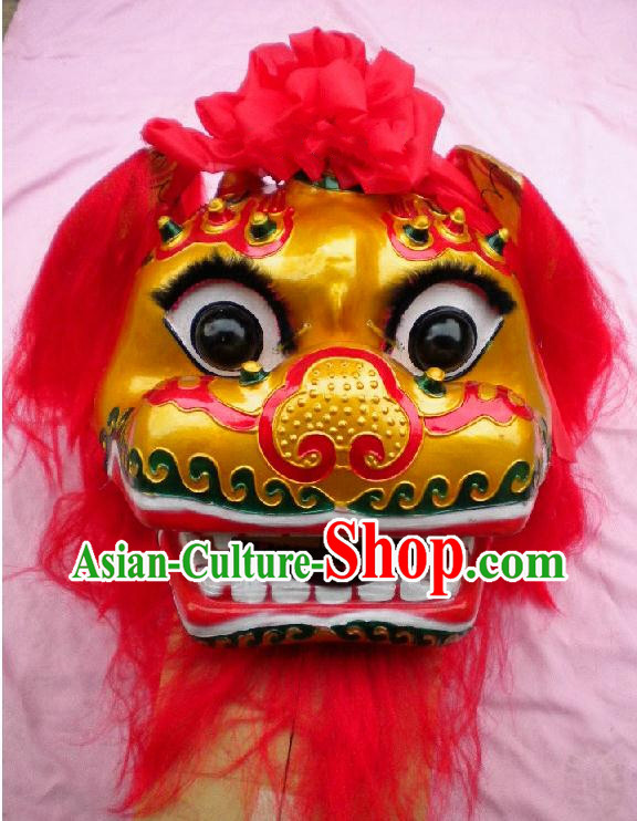 Traditional Chinese Classical New Year Parade Beijing Lion Dance Costumes Complete Set