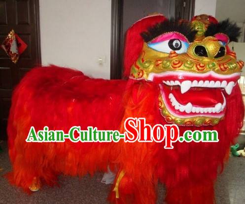 Traditional Chinese Northern Lion Dance Costume Full Set