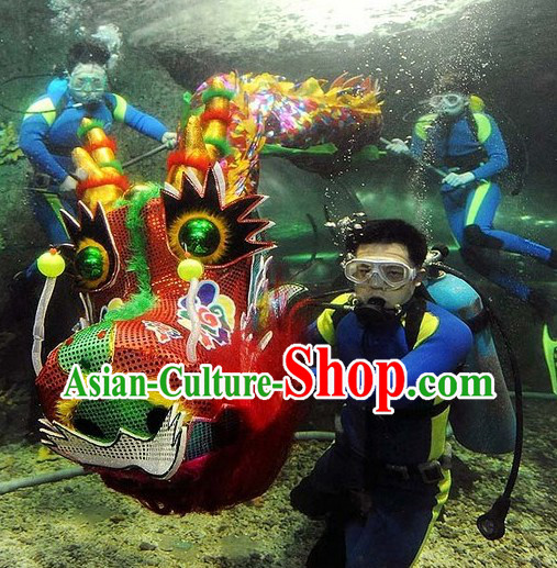 Performance and Parade Rainbow Color Dragon Dance Costume Complete Set