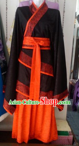 Ancient Chinese Black and Red Hanfu Clothes for Women