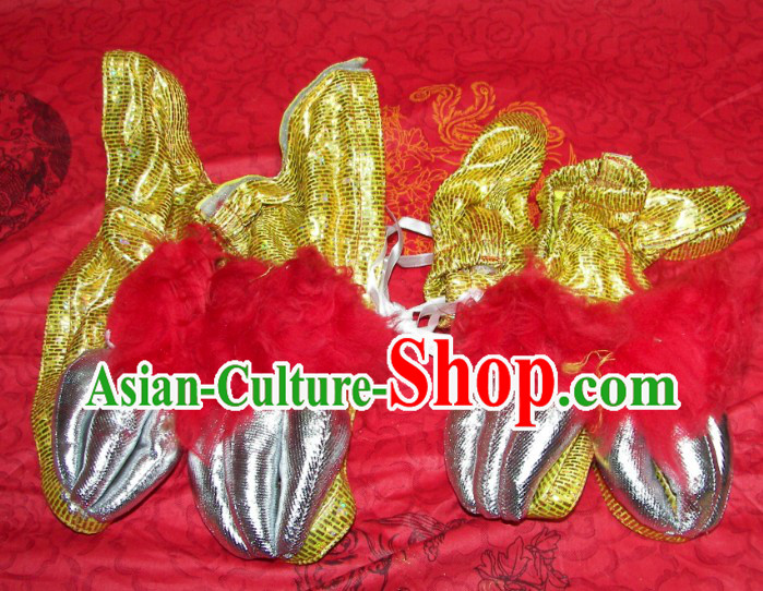 Gold Color Lion Dance Claws for Professional Performance and Competition