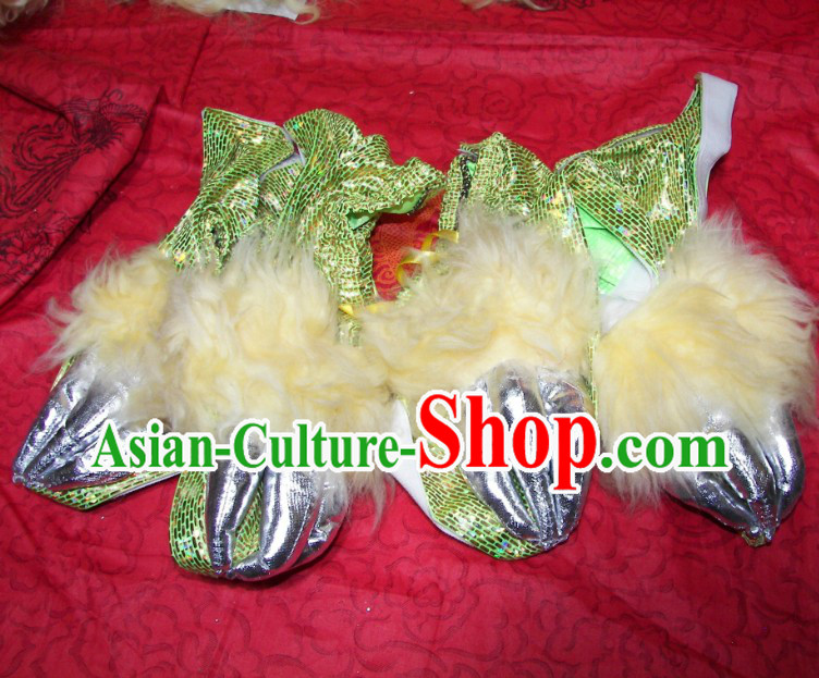 Two Pairs of Lion Dance Claws for Professional Competitoin and Performance