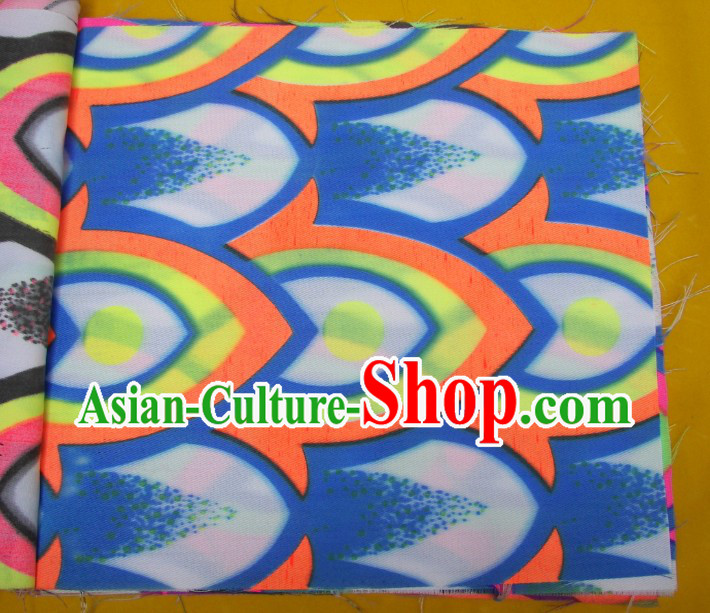 Blue Yellow Orange Ultra Violet Bamboo Pattern Dragon Dance Costumes Complete Set