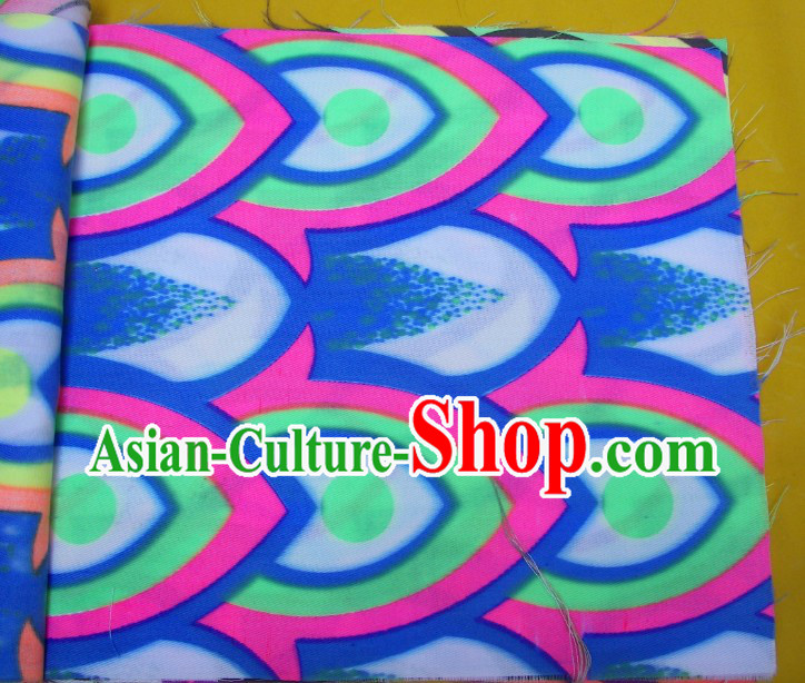 Blue Green Pink Ultra Violet Bamboo Pattern Dragon Dance Costumes Complete Set