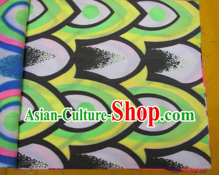 Green Yellow Black Ultra Violet Bamboo Pattern Dragon Dance Costumes Complete Set