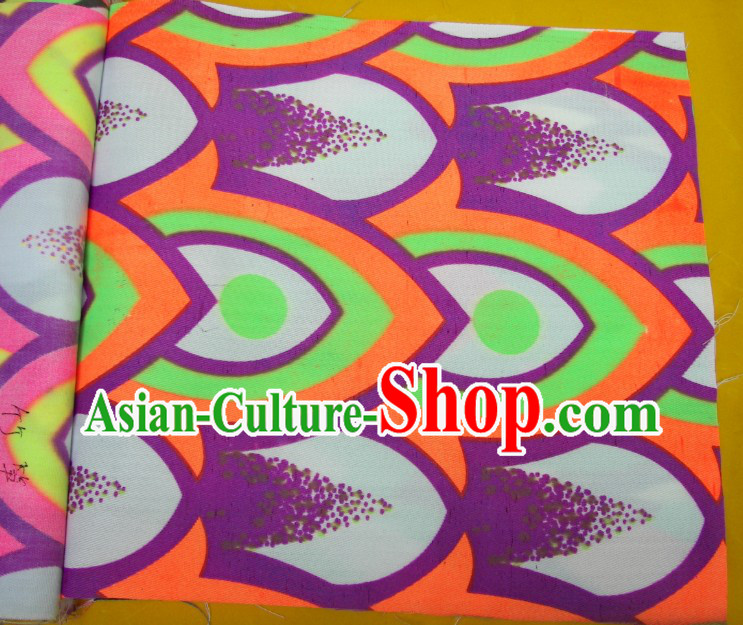 Purple Green Orange Ultra Violet Bamboo Pattern Dragon Dance Costumes Complete Set